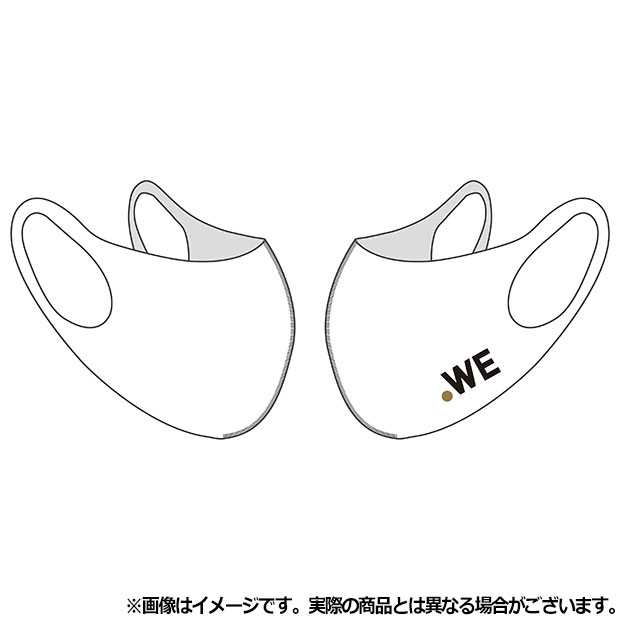 WE LEAGUE フェイスカバー ロゴ  wel35032-33 ホワイト