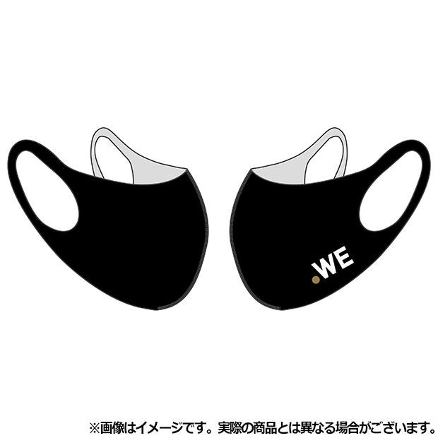 WE LEAGUE フェイスカバー ロゴ  wel35034-35 ブラック