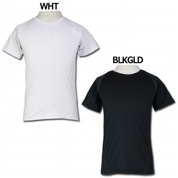Uネック半袖インナーシャツ  yk-006