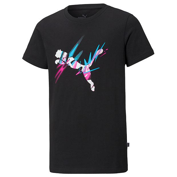 ジュニア NJR CREATIVITY ロゴ 半袖Tシャツ プーマブラック【Jr.ウェアー】