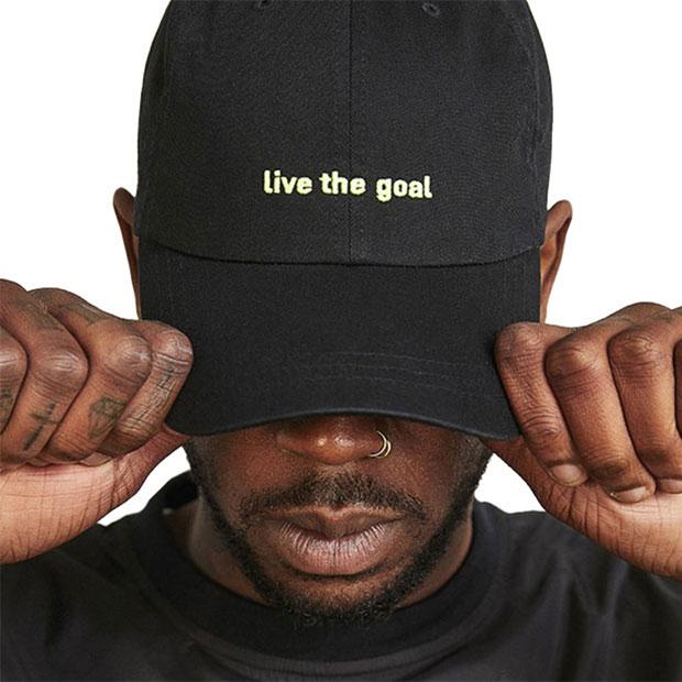LIVE THE GOAL キャップ ブラック