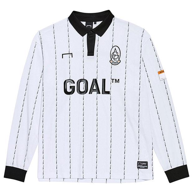 GOAL 長袖ゲームシャツ ホワイト