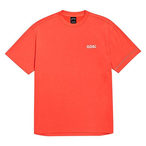 LTG バックゴールロゴ コットンモダール 半袖Tシャツ オレンジ
