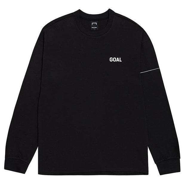LTG バックゴールロゴ コットンモダール 長袖Tシャツ ブラック