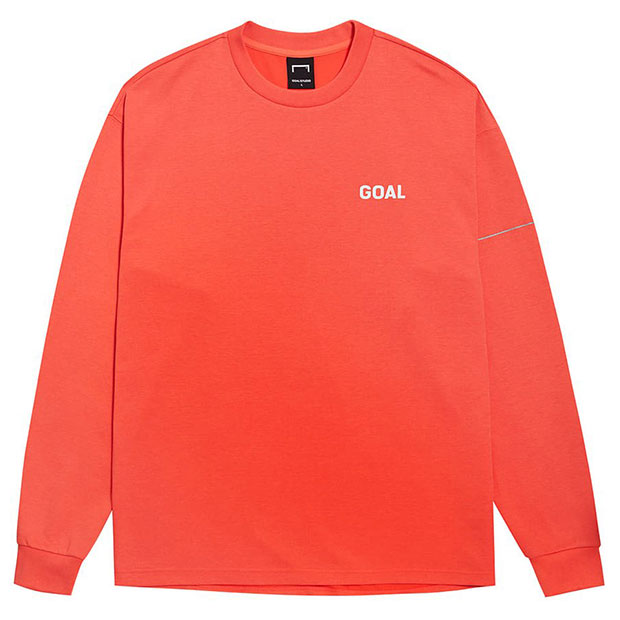 LTG バックゴールロゴ コットンモダール 長袖Tシャツ オレンジ