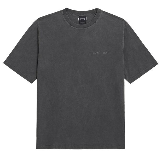 ピグメントダイ ウォッシュ加工 半袖Tシャツ Dグレー